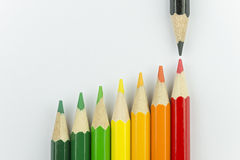 Pastéis conceptuais como cores da etiqueta da energia Fotografia de Stock