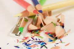 Pastéis do lápis do artista Foto de Stock Royalty Free