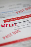 Past Due. A pile of past due bills Stock Photography