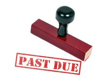 Past Due. Rubber stamp with the word words past due Royalty Free Stock Photography