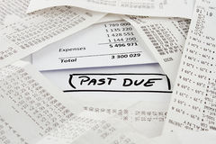 Past due bills to be paid Royalty Free Stock Photos