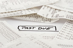 Past due bills to be paid Stock Images