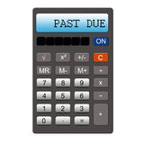 Past Due Calculator Stock Photo