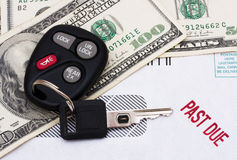 Past due car payment Royalty Free Stock Photo
