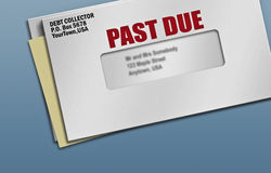 Past due credit bills Stock Image