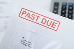 Past due envelope Stock Photos