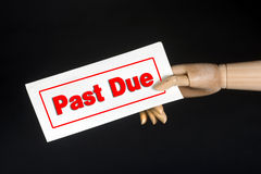 Past Due. Stock Photo
