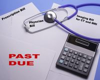 Past Due Medical Bills Piling Up At An Out Of Controll Rate Royalty Free Stock Photos