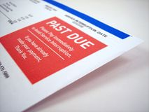 Past Due Notice. A past due notice of a bill royalty free stock images