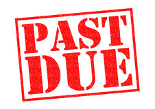 PAST DUE. Red Rubber Stamp over a white background Royalty Free Stock Image