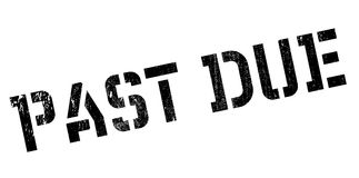 Past due rubber stamp Royalty Free Stock Images
