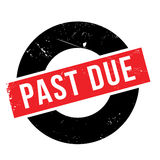 Past due rubber stamp Stock Images