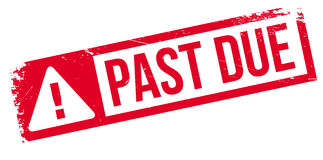 Past due rubber stamp Stock Photos