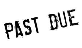 Past Due rubber stamp Stock Photography