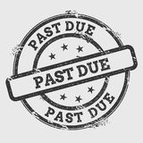 Past due rubber stamp isolated on white. royalty free illustration
