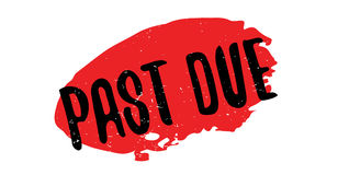 Past Due rubber stamp. Grunge design with dust scratches. Effects can be easily removed for a clean, crisp look. Color is easily changed Stock Photos