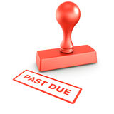 Past due stamp Royalty Free Stock Photos