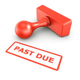 Past due stamp Royalty Free Stock Images