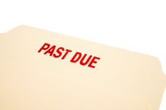 Past due stamp on paper Stock Photos