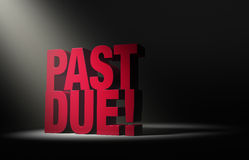 Past Due Warning Royalty Free Stock Images