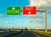 Past or future, the choice of this day Royalty Free Stock Images