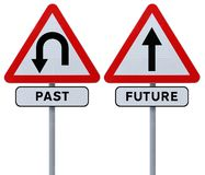 Past and Future. Conceptual road signs on the past and the future Royalty Free Stock Image