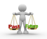 Past and future on scale Royalty Free Stock Photo