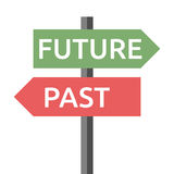 Past, future sign isolated Royalty Free Stock Photo