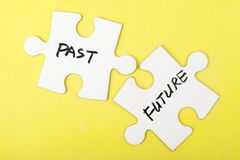 Past and future words Royalty Free Stock Images