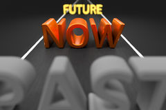 Past now future on a road vector illustration