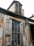 Past & Present. Crumbling building in New Orleans Royalty Free Stock Images