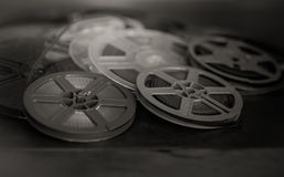 Past time movie symbol, home entertainment evocative objects Royalty Free Stock Photography