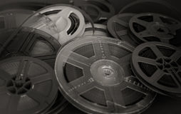Past time movie symbol, home entertainment evocative objects Royalty Free Stock Photo