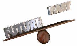Past Vs Future See Saw Progress Forward Innovation royalty free illustration