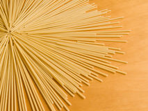 Pasta. Closeup photo of the uncooked pasta rows Royalty Free Stock Image