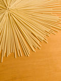 Pasta. Closeup photo of the uncooked pasta rows Royalty Free Stock Photography