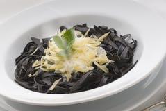 Pasta. Squid pasta with cream sauce Stock Photo