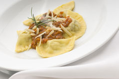 Pasta. Filled with Bolognese sauce and herbs Stock Image