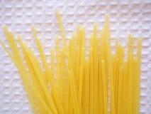Pasta. Egg pasta on the white background Stock Photos