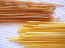 Pasta. Pasta  multi colored on the white background Royalty Free Stock Photography
