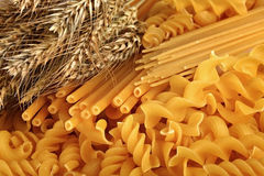 Pasta. Excellent macaroni is made of a fresh flour of a new crop Stock Images