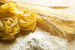 Pasta. And Wheat, closeup image stock image