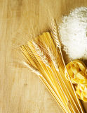 Pasta. And Wheat, closeup image royalty free stock photo