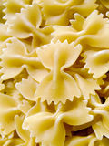 Pasta. Close-up of raw farfalle pasta Royalty Free Stock Photos