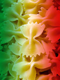 Pasta. Close-up of italian raw farfalle pasta Royalty Free Stock Images