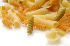 Pasta. Assorted pasta still life over white background Stock Photography