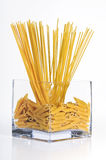 Pasta. Two kinds of pasta in decorative bowl Stock Photography