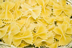 bow-tie pasta Stock Photo