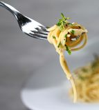 Pasta. A delicious pasta close up, isolated Royalty Free Stock Images