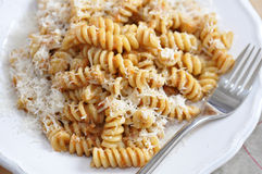 Pasta. Tasty pasta on a plate Stock Image